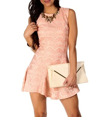Madelyn-Blush Homecoming Dress