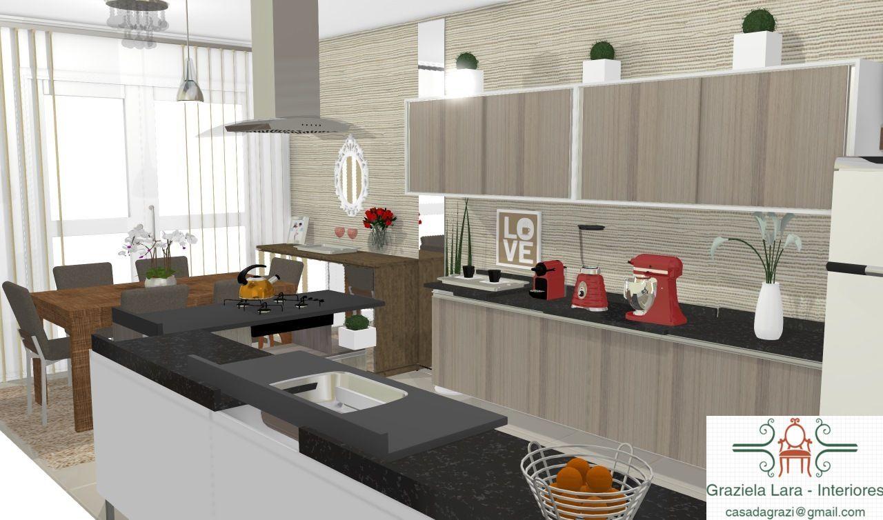 Sala De Jantar Integrada ~ Consultoria de Decoração Cozinha e Sala de Jantar Integrada com