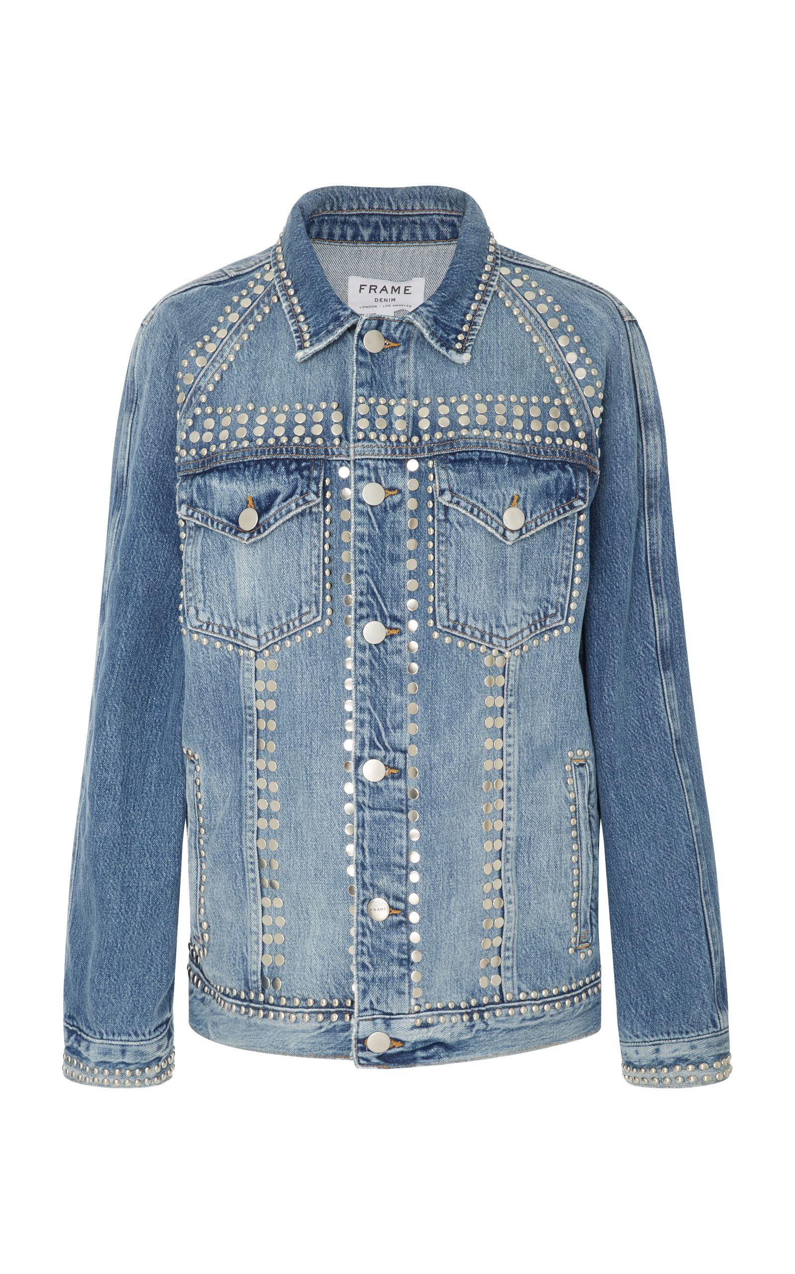 04f4463a5d1 FRAME Le Studded Denim Jacket.  frame  cloth  jacket