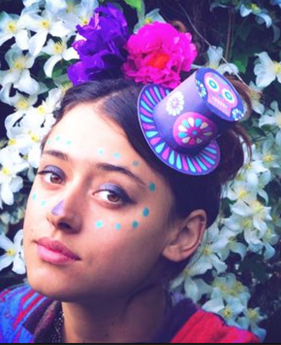 How to make a paper flower headpiece dia de and dead makeup day of the dead diy paper flowers and printable paper hat headpiece by happythought mightylinksfo