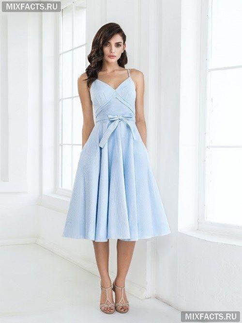 Платья миди с пышной юбкой