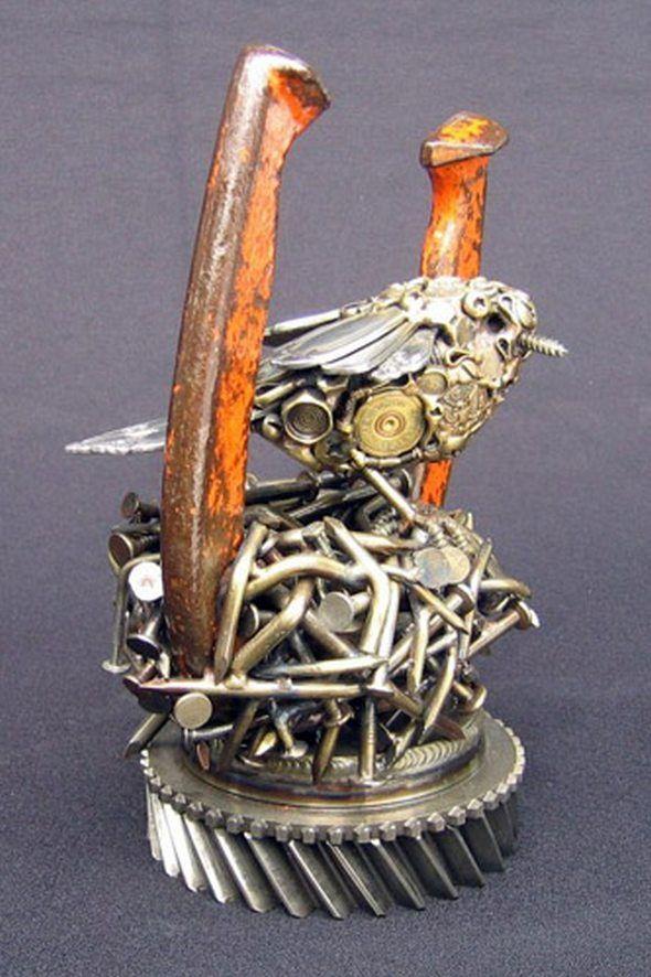 Junk Metal Art Works | metal junk to artistic sculptures 27 in Metal Junk to Artistic ...