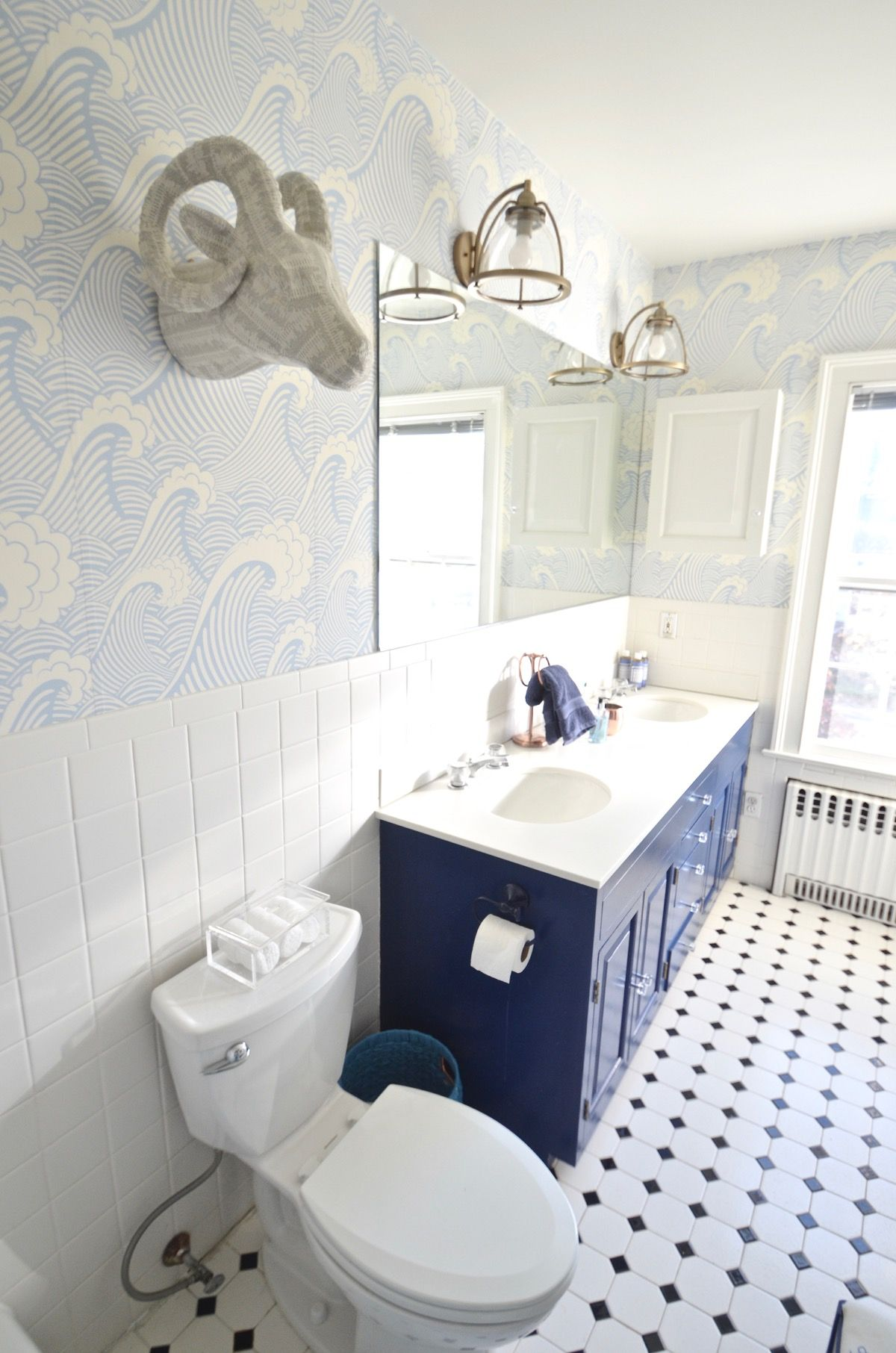. How To  Removable Wallpaper   Master Bathroom Ideas   Bathroom