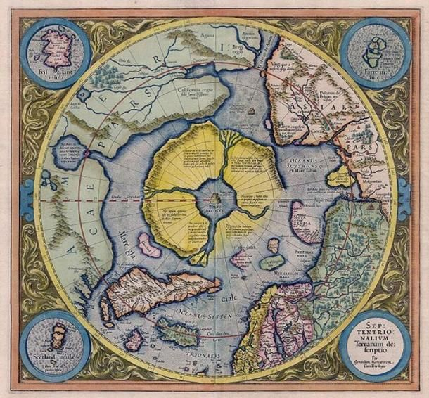 Arctic continent on the Gerardus Mercator map of 1595 Untold - copy world map africa continent