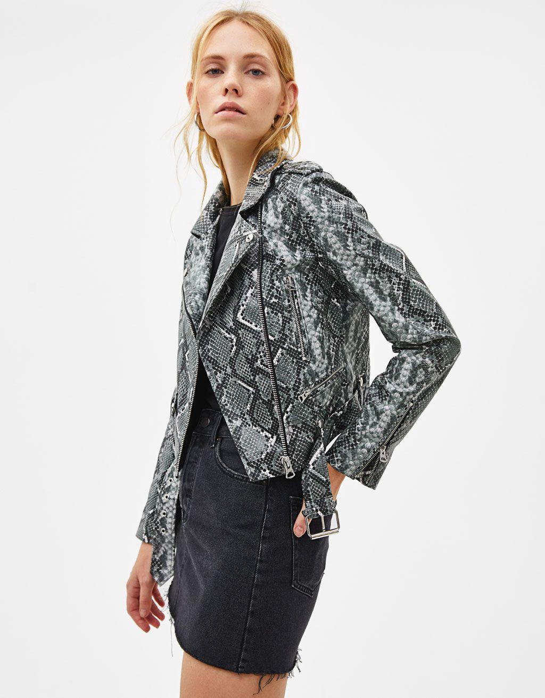 Faux leather biker jacket with belt Jackets, Fashion