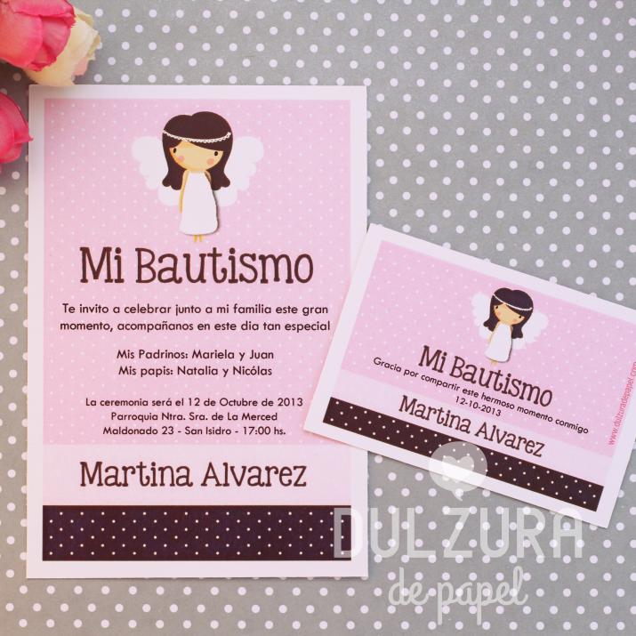 Invitaciones Angelita para imprimir Todos los textos son ...