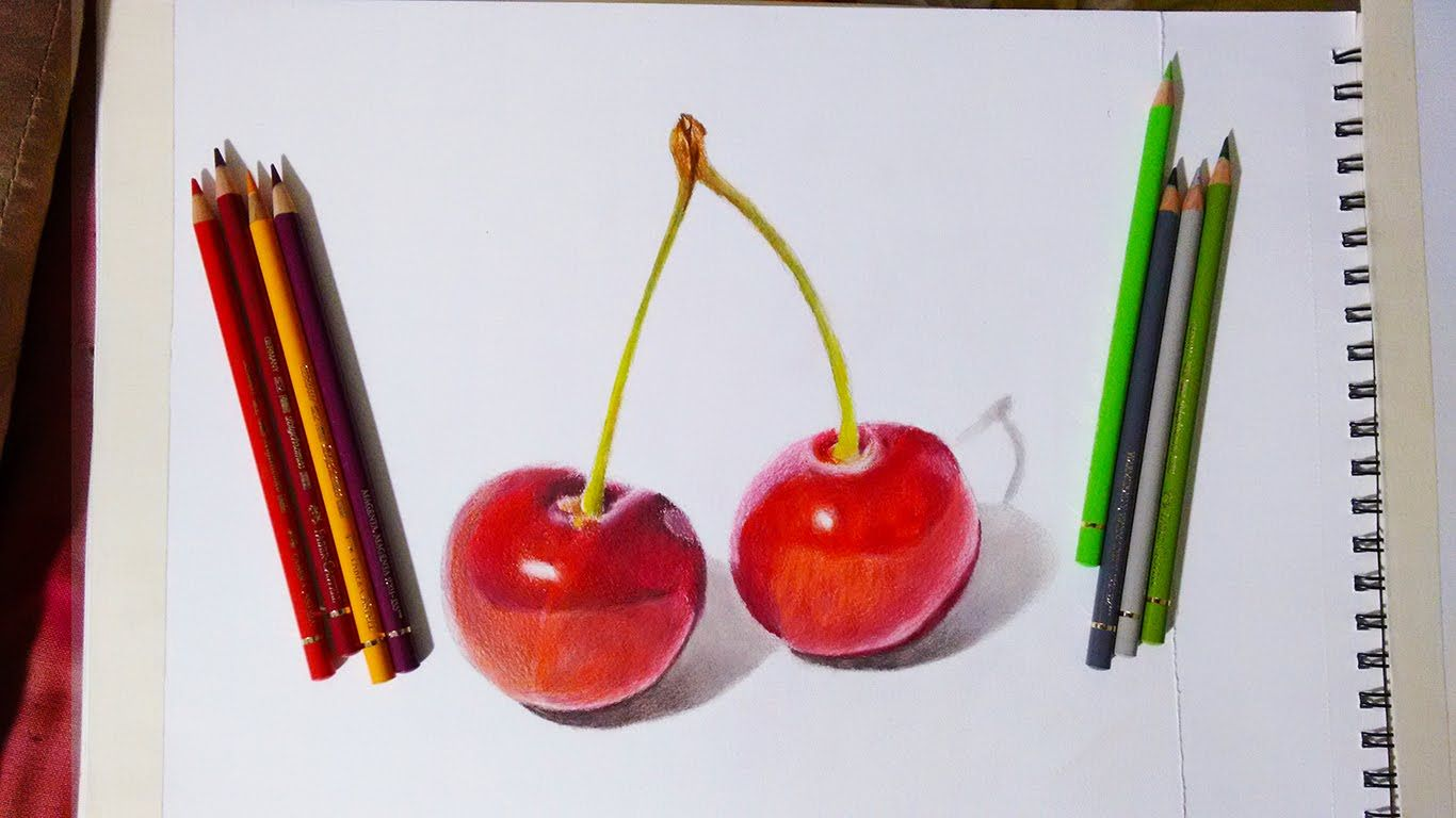 Faber Castell Polychromos Review And Demonstration Red Cherries