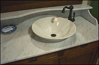 Photo of Marble top and sink - Antique Bathroom Vanity: Marble Top ...