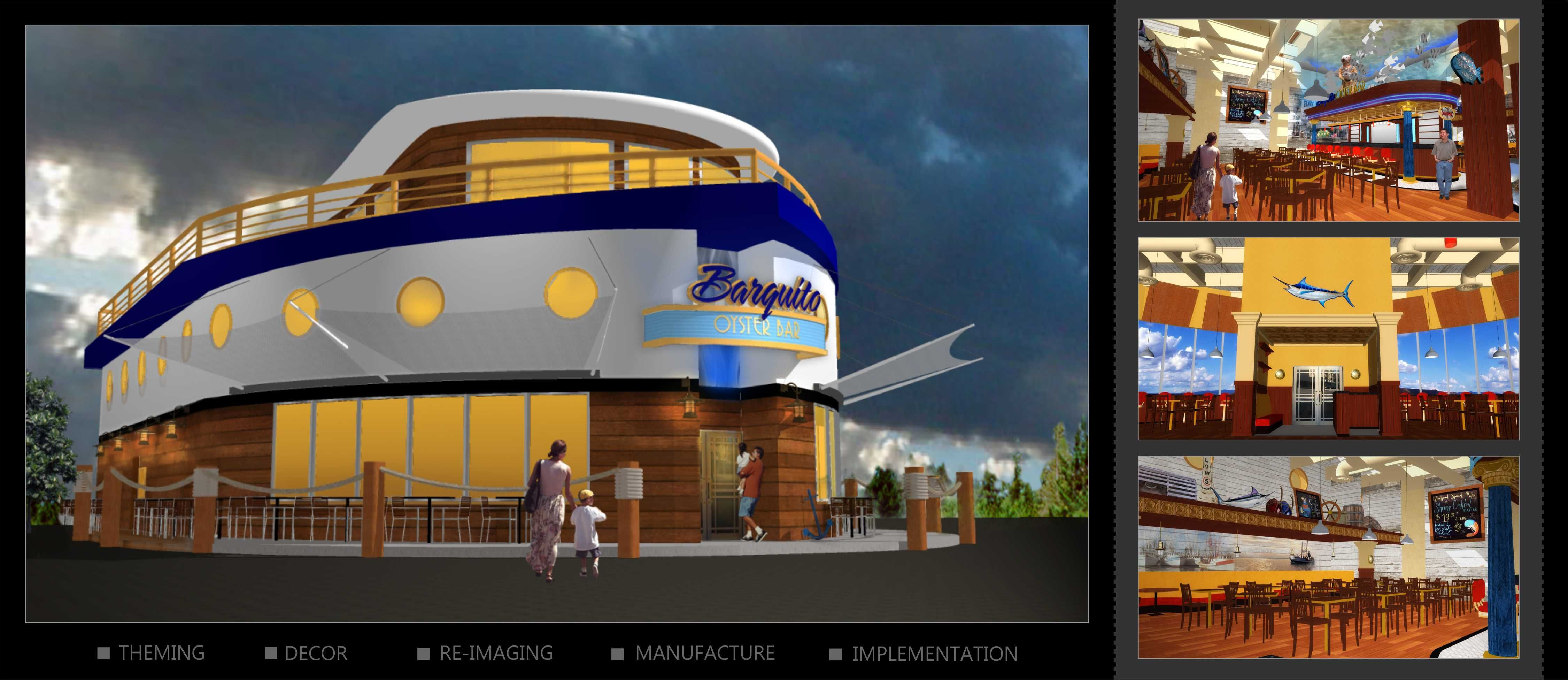 Barquitto Oyster Bar  Restaurant Design Rendering  Wwwi5Designcom