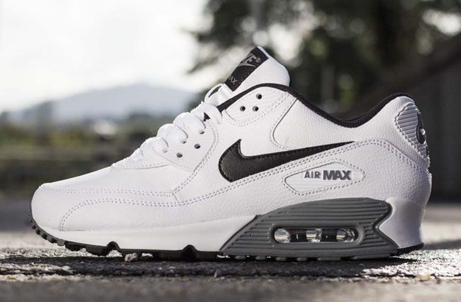 Nike Air Max 90 Essential LTR Blanc, Noir Cool Gris Carry On