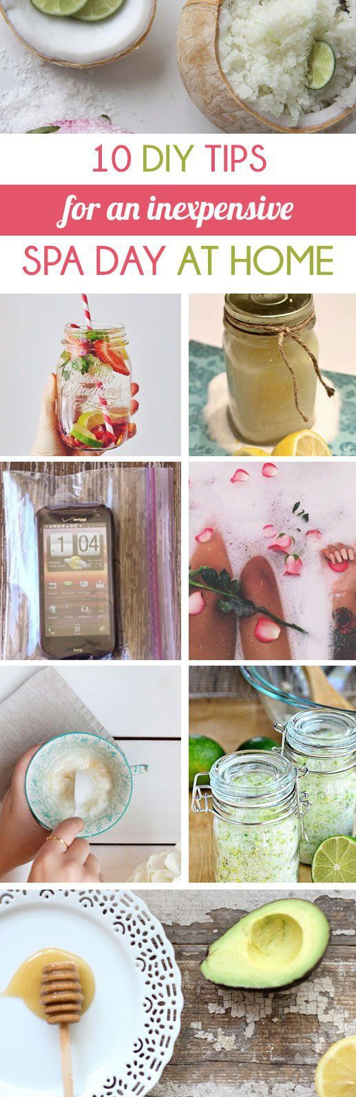 10 Diy Tips For An Inexpensive Spa Day At Home Spa Day At Home