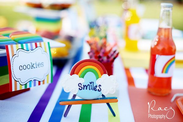 Sheek Shindigs A RainbowThemed Party colorful party for kids
