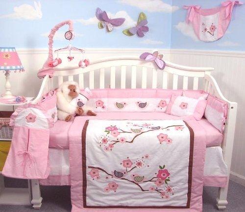 Cherry Blossom Nursery Bedding Set Crib Baby Theme Ideas