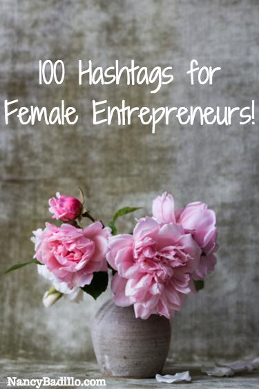 100 Hashtags For Female Entrepreneurs Etsy Social Media