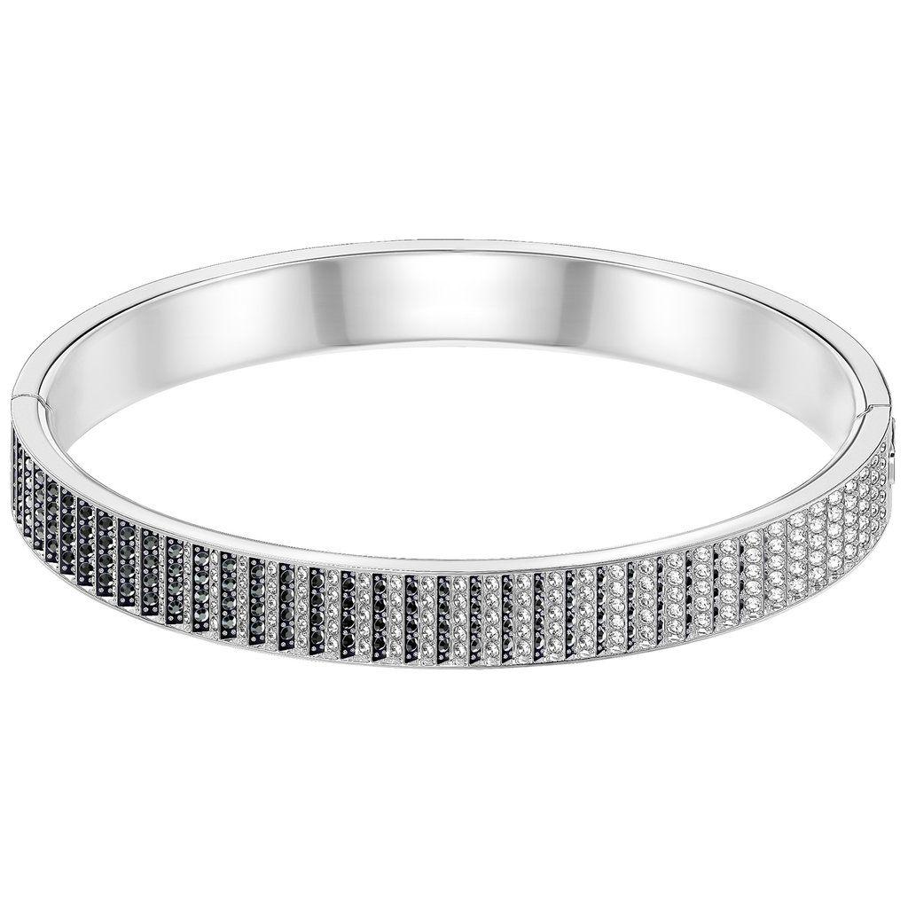 Swarovski Luxury Black Bangle 5293112 Duty Free Crystal Duty Free Crystal Black Bangle Jewelry Bracelets Silver Pearl Bracelet Jewelry