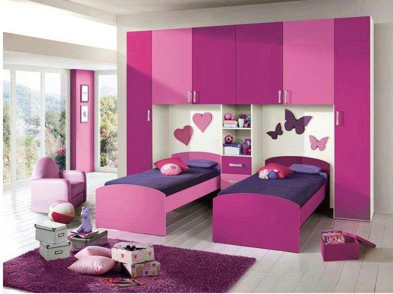 Cute Sisters Room Purple Bedroom Color Scheme Modern Kids Bedroom Modern Kids Bedroom Furniture