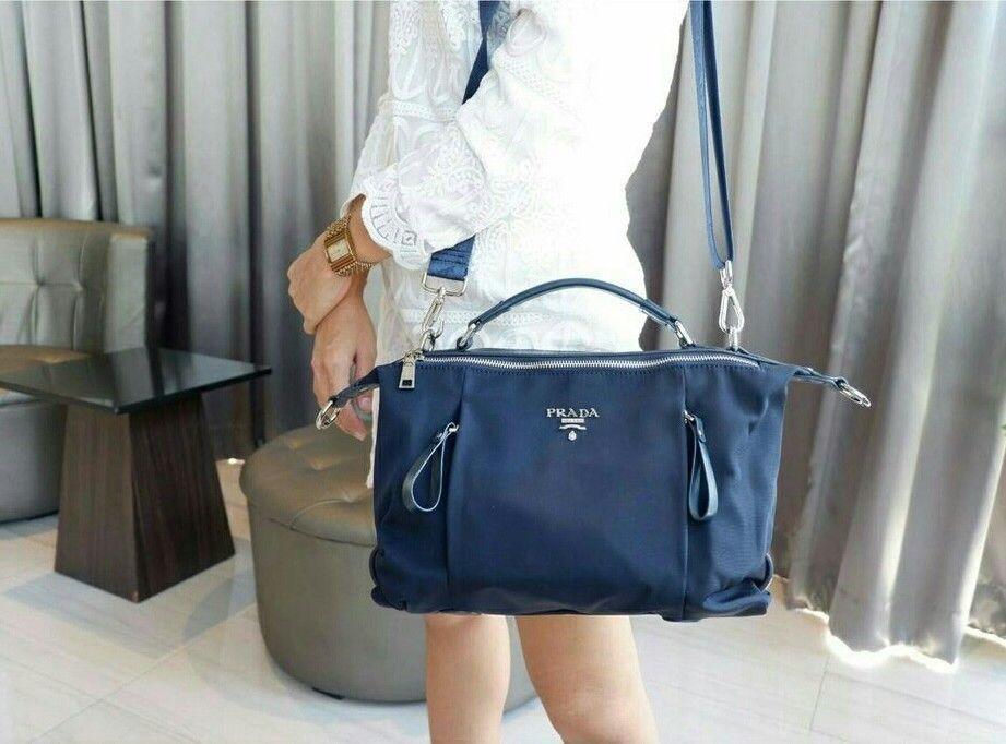 940e551ba86c72 ... discount code for authentic prada matte canvas leather navy blue mini tote  shoulder bag 315.0 35d68