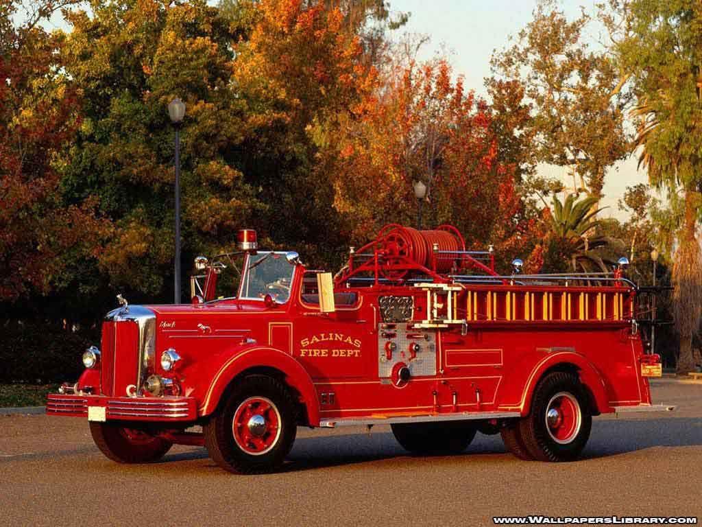 Old Mack Fire Trucks : Old fire truck mack quot salinas dept trucks