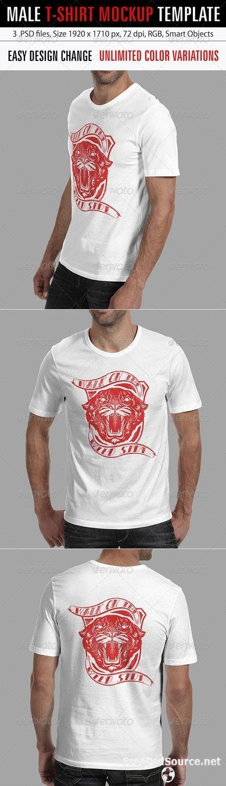 Download Psd Male T Shirt Mockup 6394567 Graphicriver Free Free Download Psd Source Tutorials Vectors Stock Ressources
