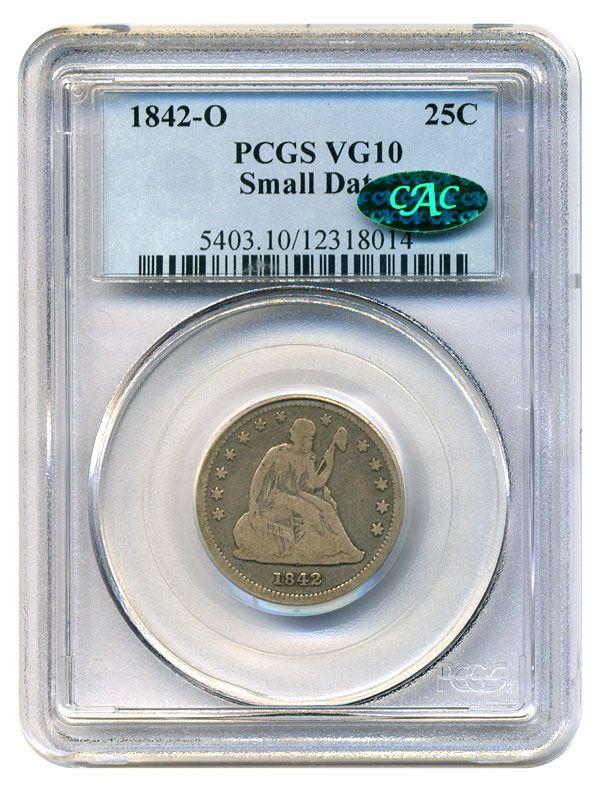 Collectors Corner - 1842-O 25C Small Date VG10 PCGS