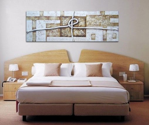 Pin de cuadros blangar en cuadros grandes pinterest pintura - Cuadros encima cabecero cama ...