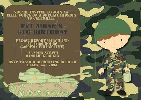 Nice Army Birthday Invitations Ideas Download this invitation for - birthday invitations free download