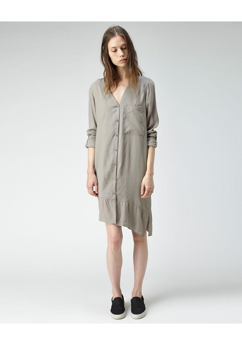 bca1b50ae9 HELMUT Helmut Lang   Long Sleeve Shirtdress