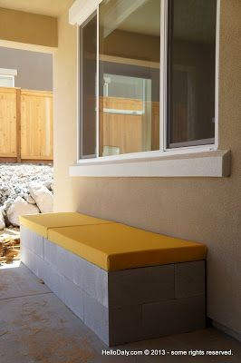 Excellent Hello Daly Mini Patio Project Cinder Block Bench Squirreltailoven Fun Painted Chair Ideas Images Squirreltailovenorg