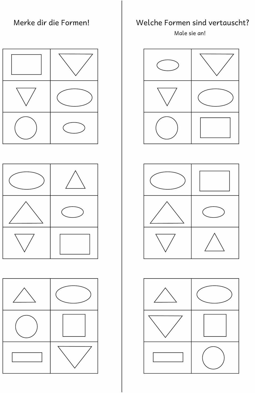 Arbeitsblätter zum Formen tauschen
