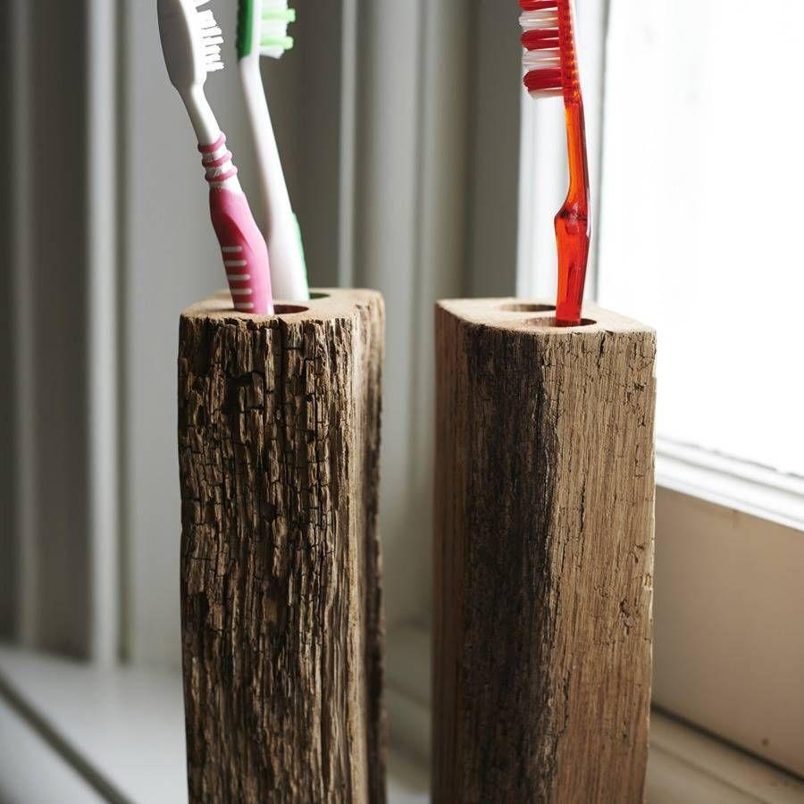 Oak Toothbrush Holder Oak Toothbrush Holder