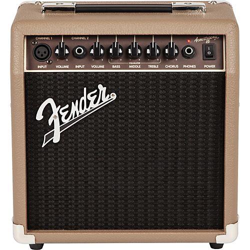 Fender Acoustasonic 15 Acoustic Combo Amp Acoustic Guitar Amp Fender Guitar Amps Acoustic Guitar