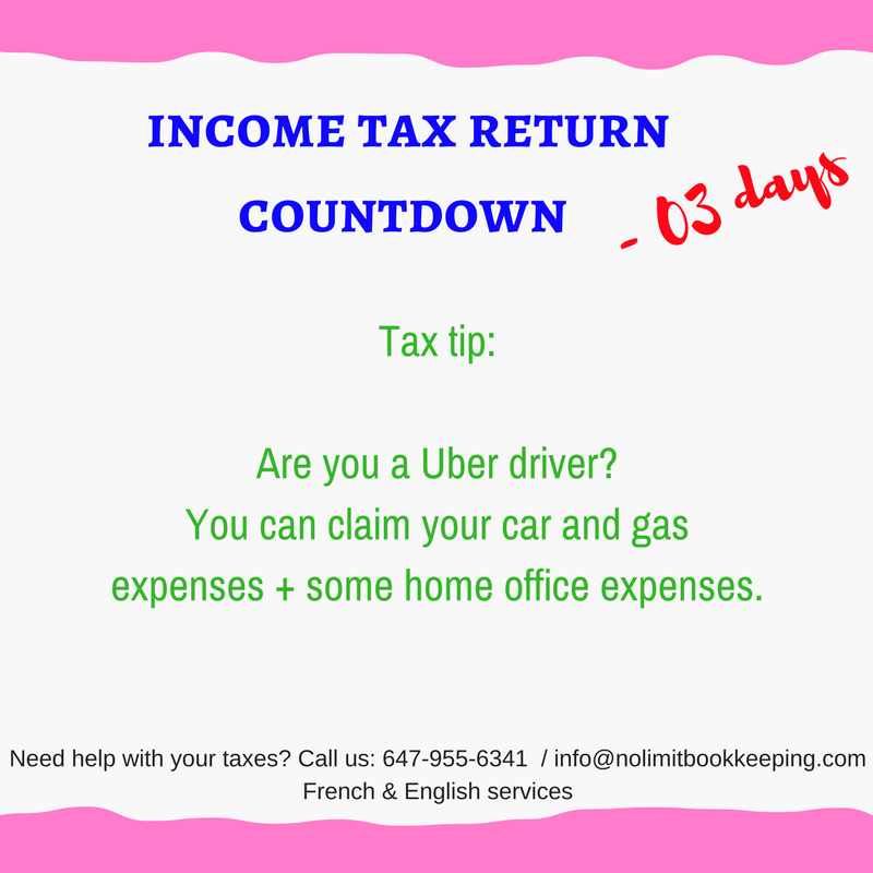 INCOME TAX RETURN COUNTDOWN. Need Help?Call: 647-955-6341