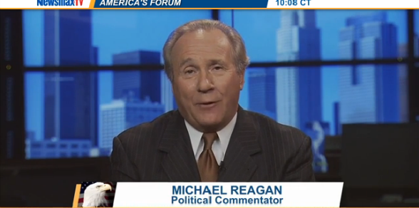 """Ronald Reagan's Son Blasts Barack Obama for Disrespecting US Military [WATCH] -- Michael Reagan said Obama's decision to avoid sending anyone to Maj. Gen. Greene's funeral shows his poor attitude towards the military. """"You see how he feels about the military in general. You have three WH people at Michael Brown's funeral, no WH people at the funeral of Maj. Gen. Greene."""" Obama seems solely concerned with politics and optics, and doesn't know how to truly lead the country.  [...] 08/27"""