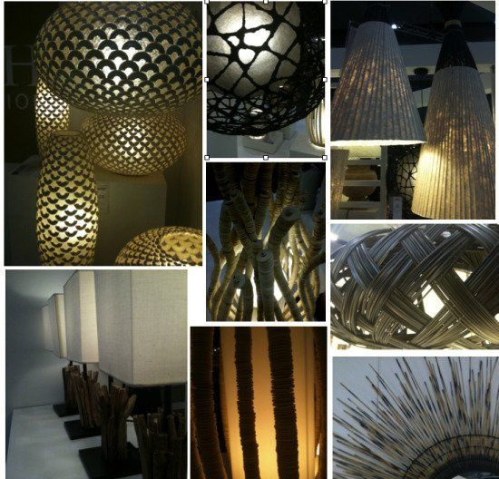 DIY Lamp stands woven, wood, natural, etc