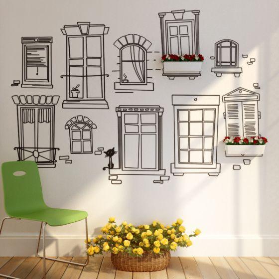 ventanas vinilo … | furniture | pinte…