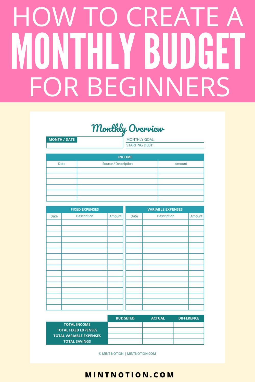 30++ Beginner monthly budget worksheet Information