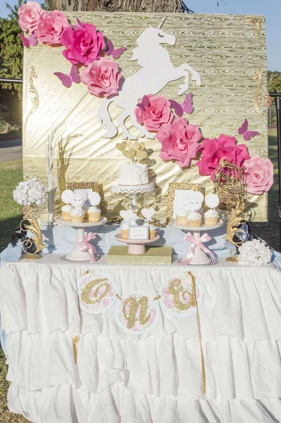 Ideas para decorar una fiesta de cumplea os de unicornios - Ideas para cumpleanos 2 anos ...