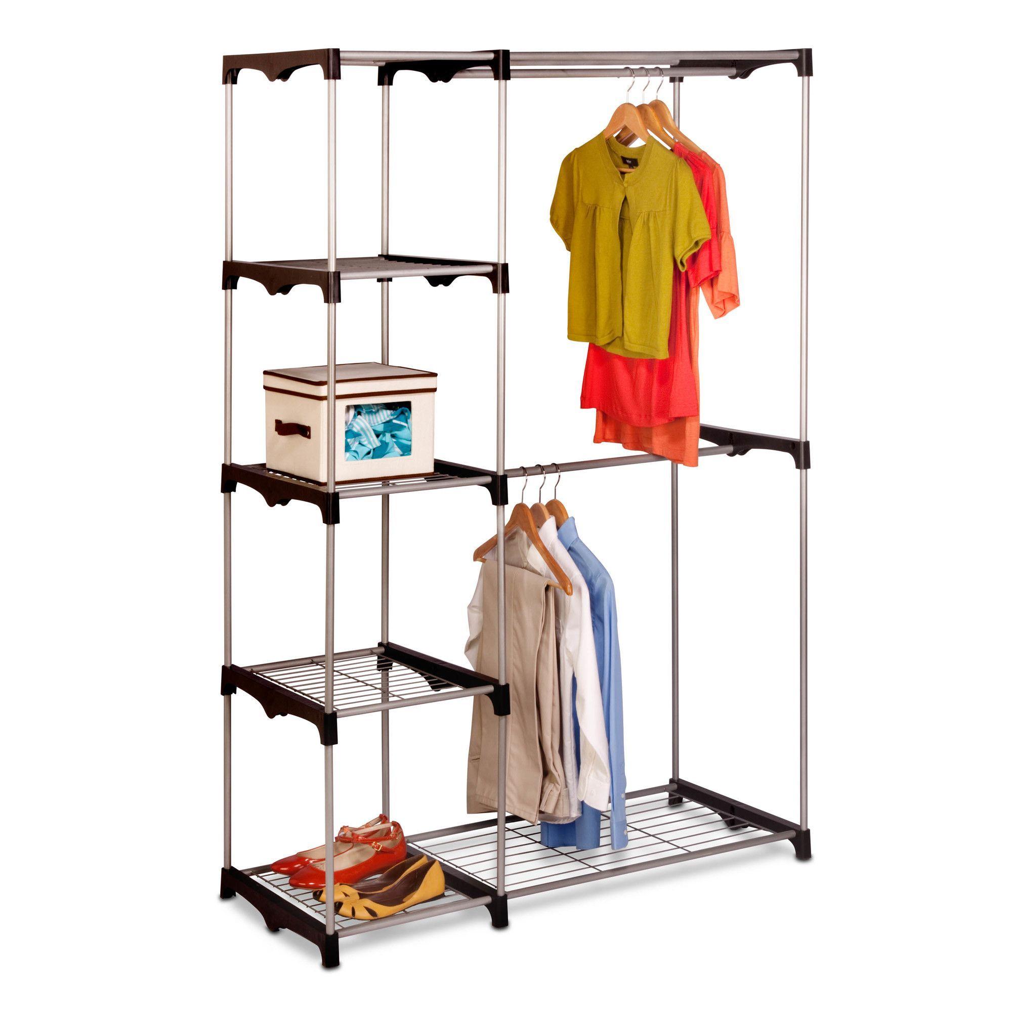"45.25""W Closet System Portable closet, Wardrobe closet"