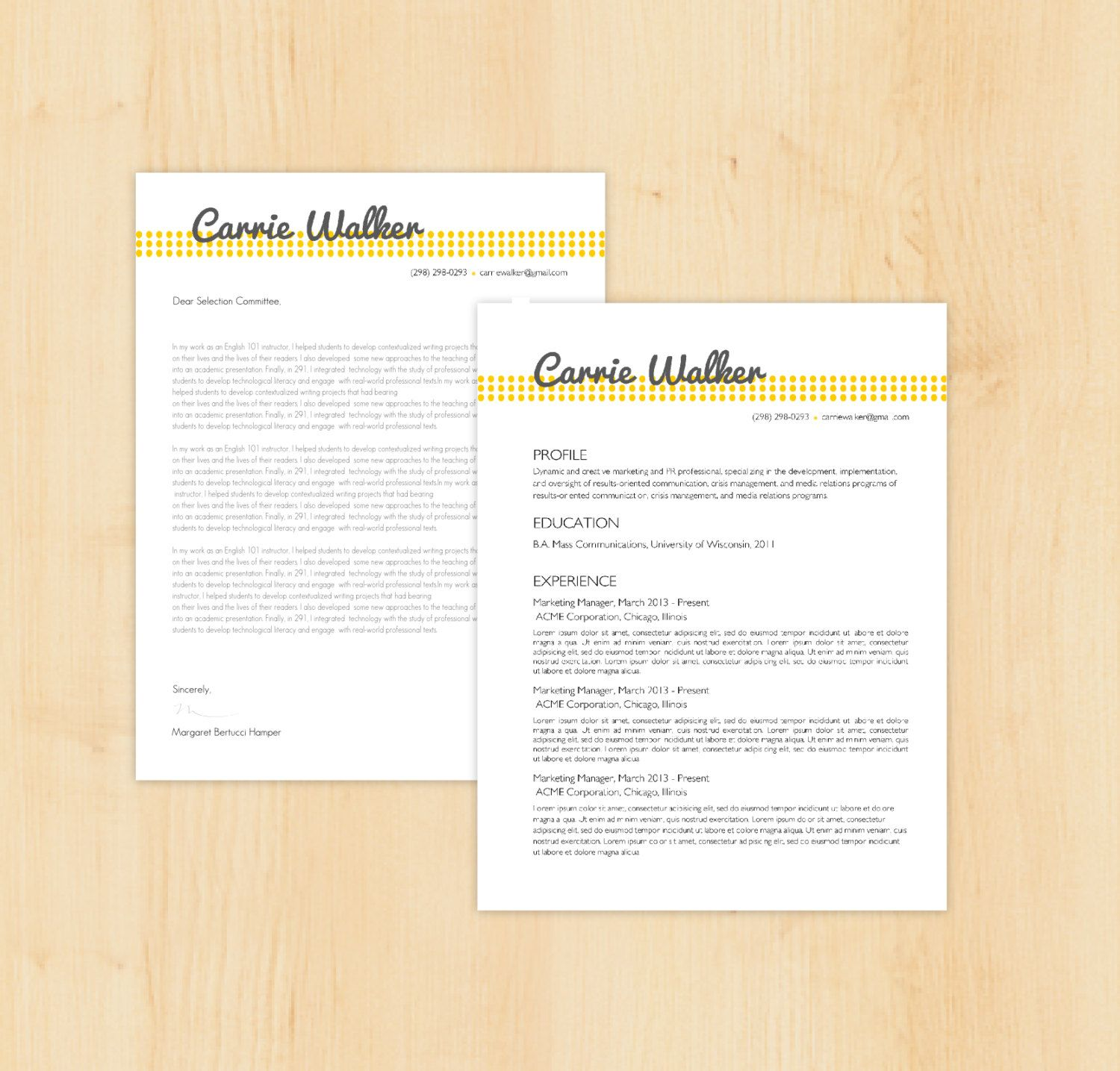 Cover Letter Design  Google Search  Resume And Cv