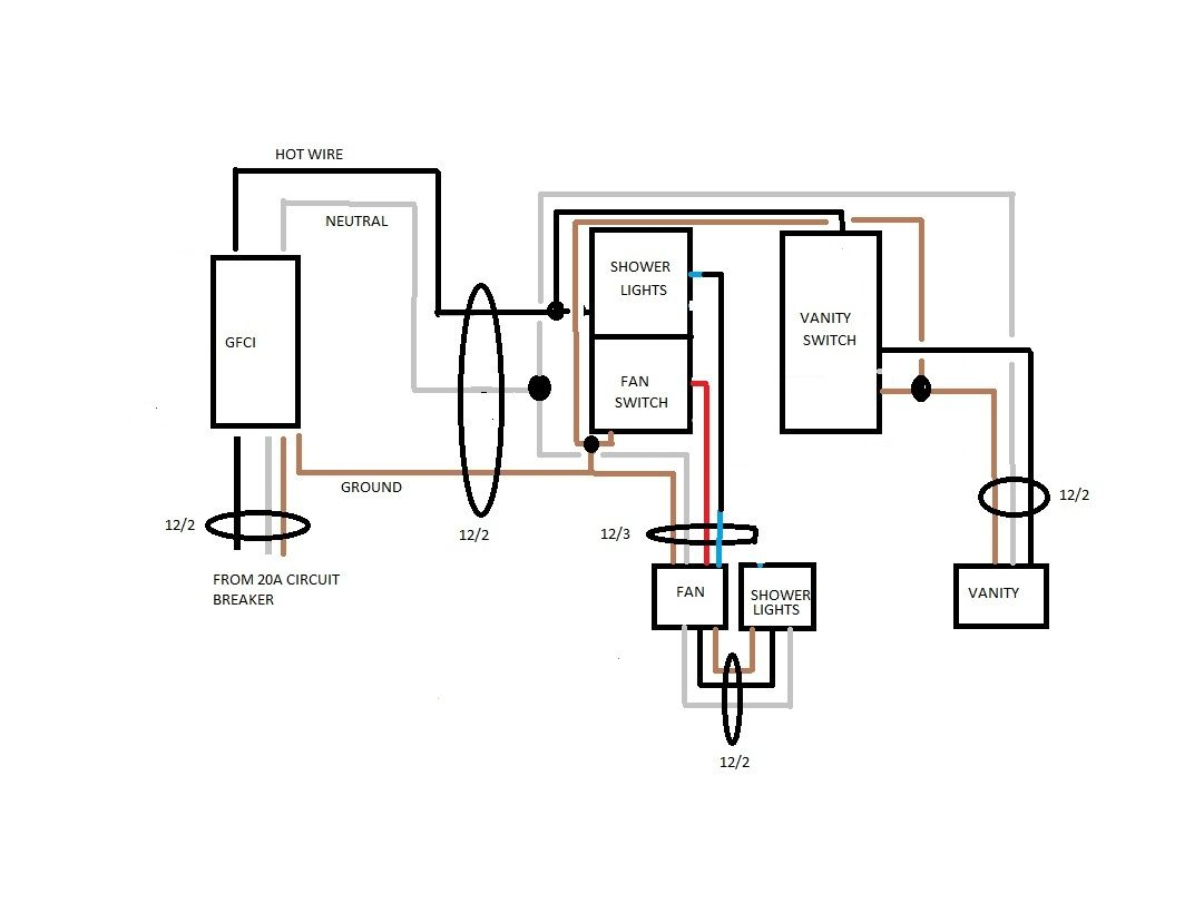 Bathroom Exhaust Fan With Light Wiring Diagram