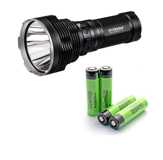 Black 1300M New AceBeam K70 Cree XHP35 HI 2600 Lumens LED Flashlight