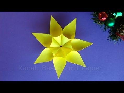 Weihnachtssterne basteln - Weihnachtsdeko - Sterne basteln mit Kindern W...