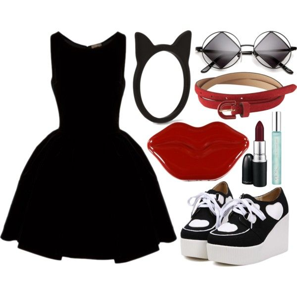 Untitled #494 by julithecat on Polyvore featuring moda, Alaïa, Forever 21, LOFT and MAC Cosmetics