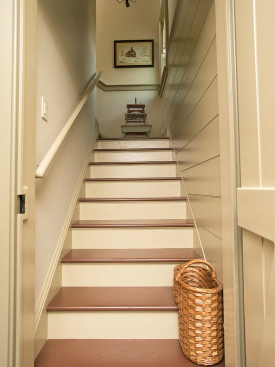 Stairway To Basement Wall Treatment And Barn Door For The Home