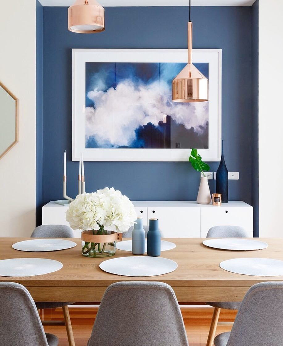 223 Likes 4 Comments  Myinteriordesignaddiction On Instagram Extraordinary Blue Dining Room Ideas Decorating Inspiration