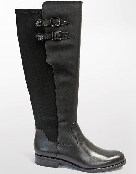 8b627cb0e315d Women's Black Blitz Leather Stretch Boots | Get Ready For Fall ...
