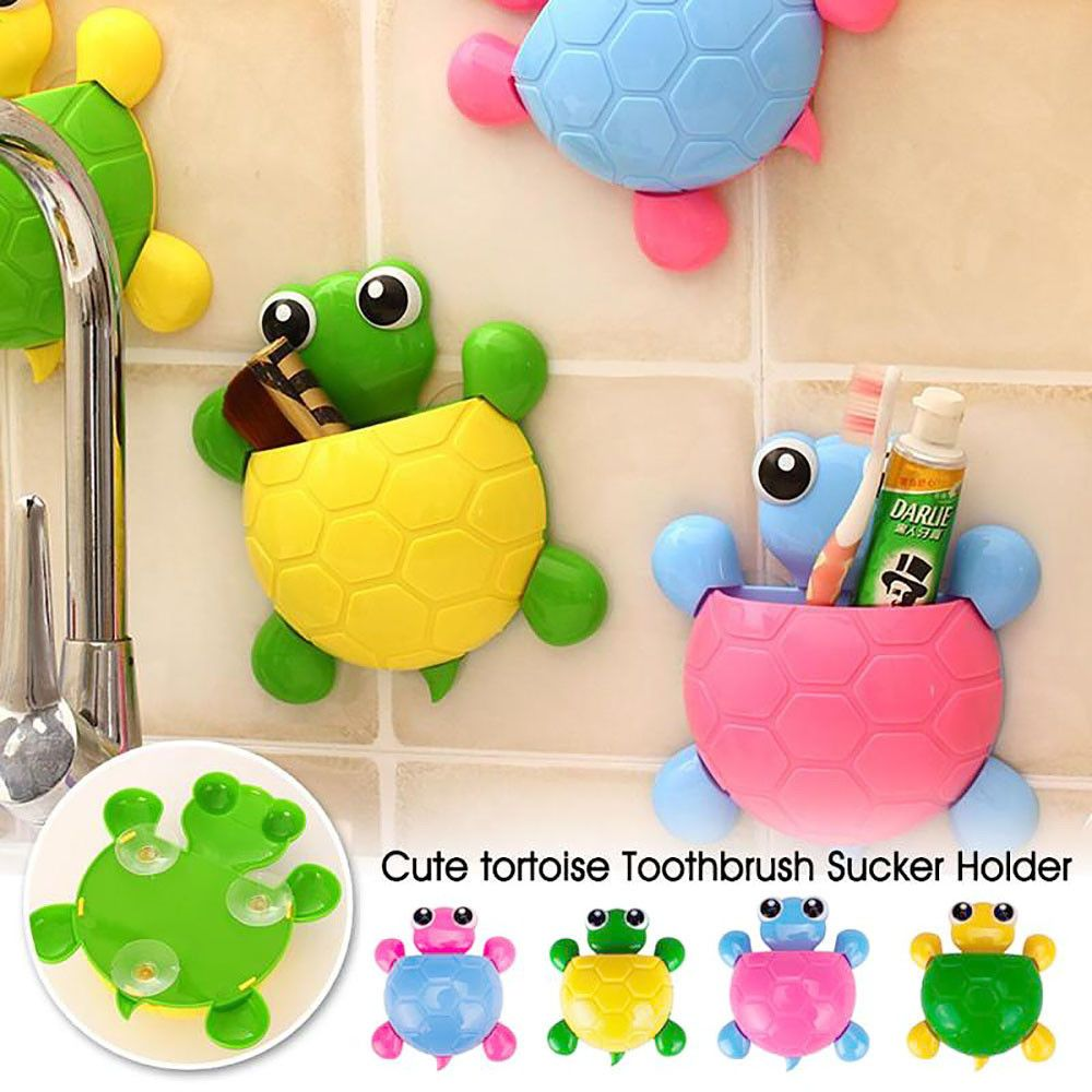 2PC Cute Hello Kitty Toothbrush Holder Sucker Suction Cup Kids Bathroom Wall