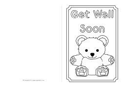 graphic about Get Well Soon Card Printable named Receive Effectively Before long card colouring templates (SB8890) - SparkleBox