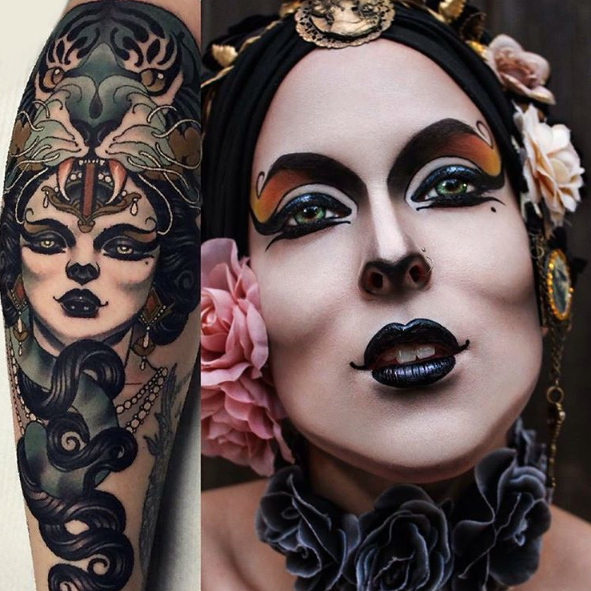 Make-up inspired by Emily Rose Murray Tattoo ...
