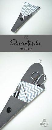 Eine schöne und praktische Scherentasche Ein Freebie für alle die mal was sc A nice and practical scissors bag A freebie for everyone who wants to sew something...